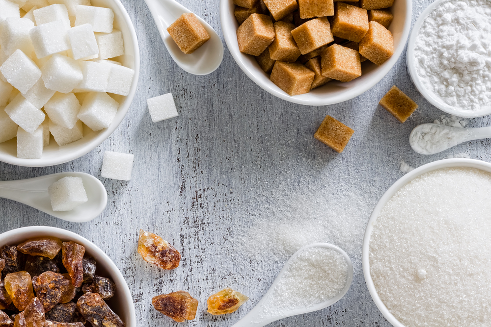 Different types of sugar