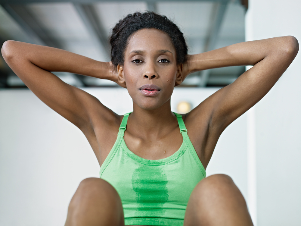 Sweating leads to healthy skin
